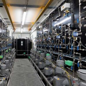 Sistema de dosificación en container